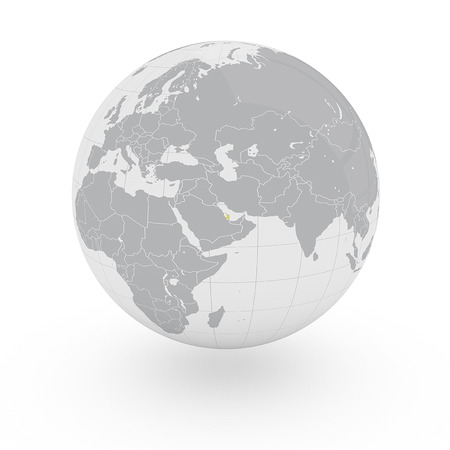 middle east: Globe Asia Middle East, Qatar Stock Photo