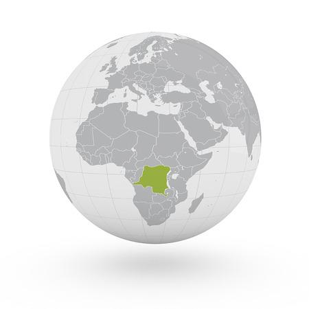 democratic: Globe Africa Democratic Republic of Congo