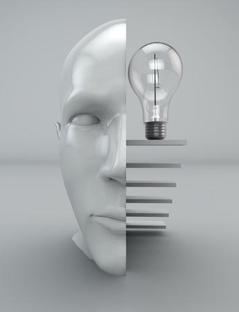 philosophy of logic: Idea thinking mind philosophy bulb head