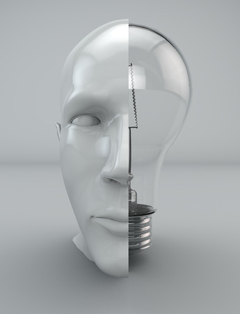 ontology: Idea thinking mind philosophy bulb head