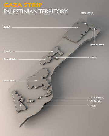 khan: Map of the Gaza Strip with city