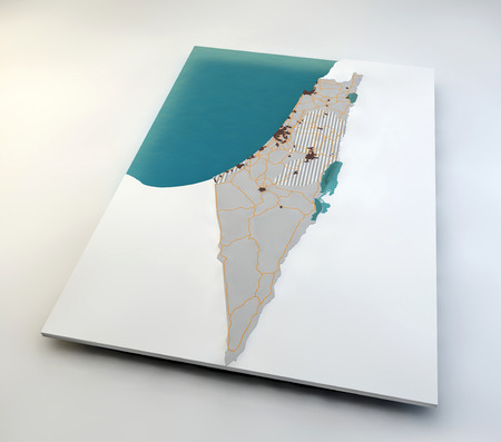 territories: Map of Israel and Palestinian territories Stock Photo