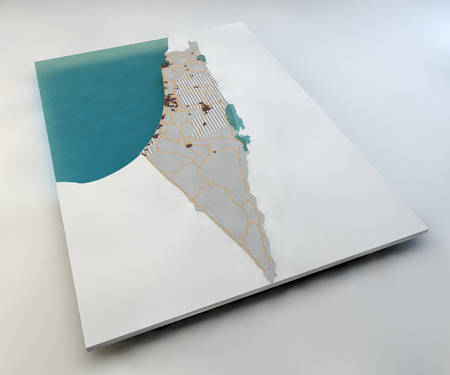 palestinian: Map of Israel and Palestinian territories Stock Photo