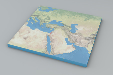 middle east map: World Map, middle east Israel