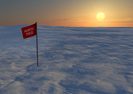 North Pole snow and ice flag