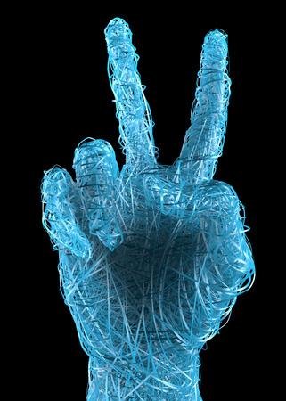 hand gesture: Peace, victory, hand gesture