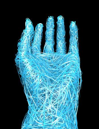 hand gesture: Open hand, hand gesture Stock Photo