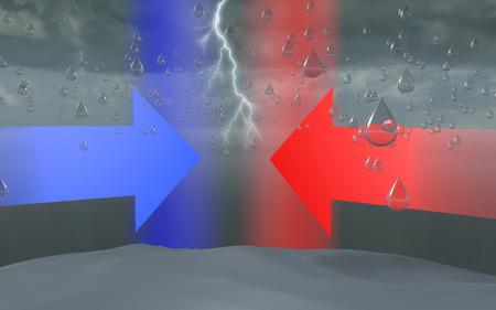 Water bomb, sky cloud storm rain drop formation  photo