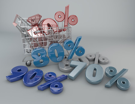 Shopping cart and product promotion photo