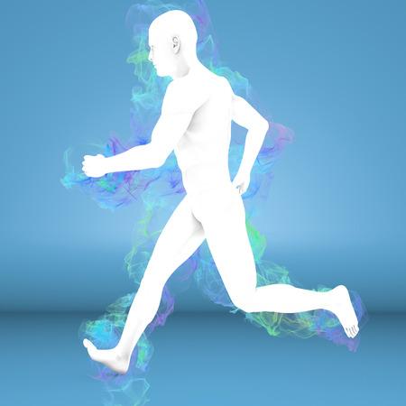 Man running with aura