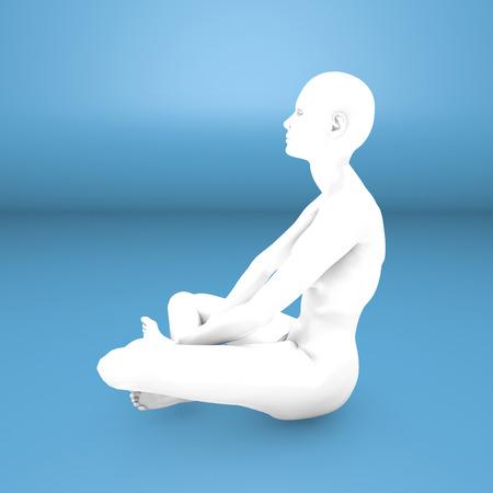 pseudoscience: Woman yoga meditation concentration