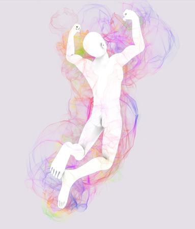 pseudoscience: Man jumping with aura