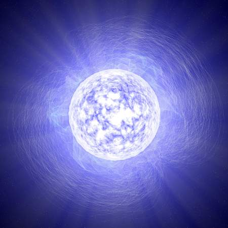 Magnetar, a neutron star, star, universe, magnetic field Stock Photo