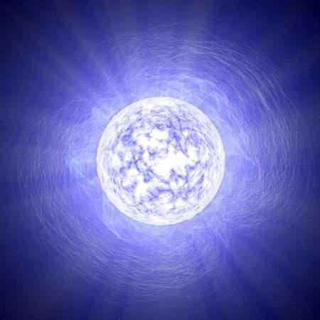 Magnetar, a neutron star, star, universe, magnetic field 版權商用圖片