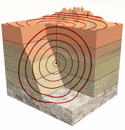 quake: Earthquake section of the ground, shake, quake