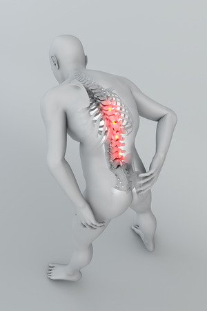 ligaments: Man backache pain x-ray skeleton spine