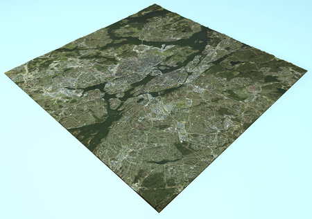 sweden map: Satellite view of Stockholm, Sweden, map, section 3d