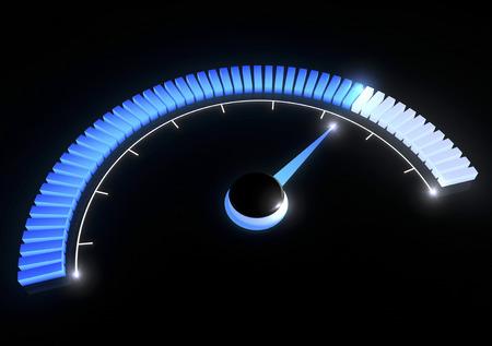 Manometer Temperaturgeschwindigkeitsleistung Lizenzfreie Bilder