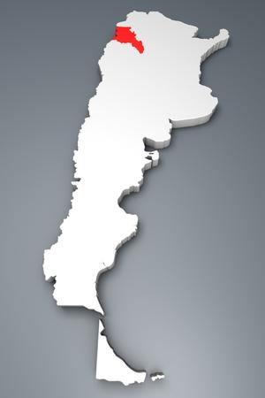 argentina map: Catamarca Province on Argentina map Stock Photo