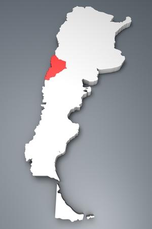 argentina map: Neuqoen Province On Argentina map Stock Photo