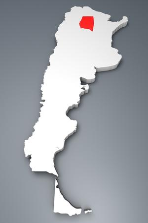 argentina map: Santiago del Estero Province On Argentina map