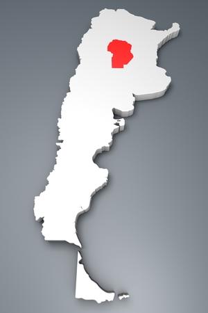 argentina map: Cordoba province on Argentina map