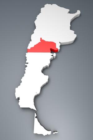 argentina map: Rio Negro Province On Argentina map Stock Photo