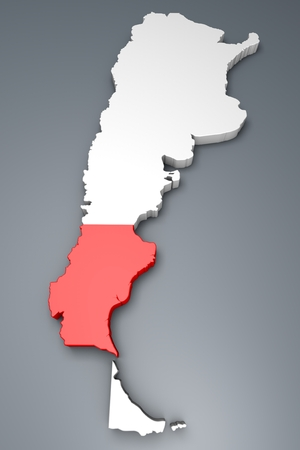 argentina map: Santa Cruz Province On Argentina map Stock Photo
