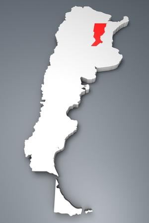 argentina map: Santa Fe Province on Argentina map Stock Photo