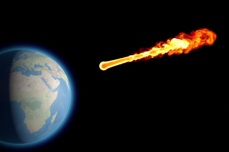 meteorite: World earth globe explosion meteorite asteroid impact