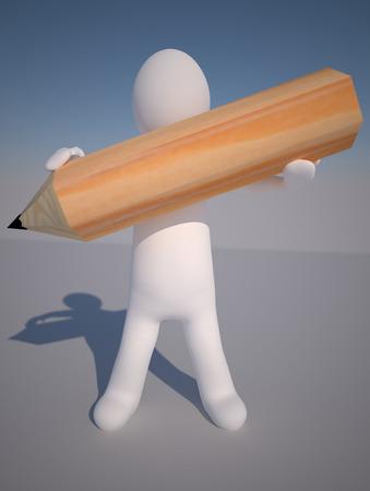 the little man: Little Man, il manichino con la matita