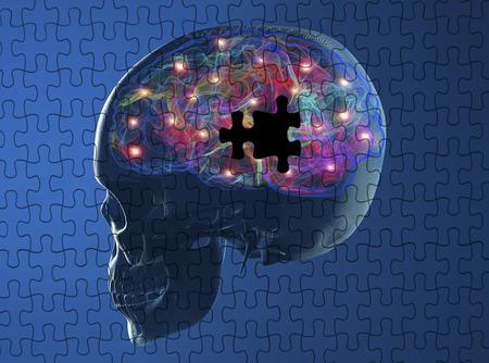 degenerative: Brain degenerative diseases Parkinson, Alzheimer puzzle