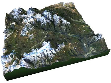 satellite view: Satellite view of the Dolomites, Italian Alps
