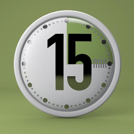 Time, clock, timer, stopwatch 15 minutes Reklamní fotografie
