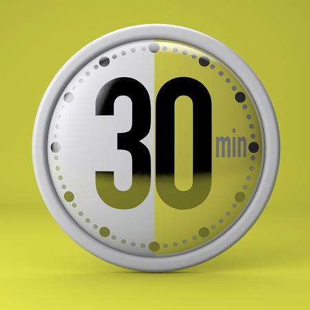 Zeit, Uhr, Timer, Stoppuhr 30 Minuten Standard-Bild