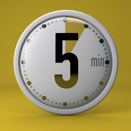 Time, clock, timer, stopwatch 5 minutes Banque d'images