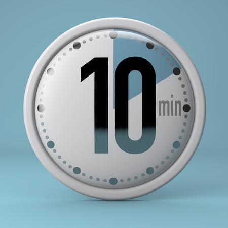 Time, clock, timer, stopwatch 10 minutes Archivio Fotografico