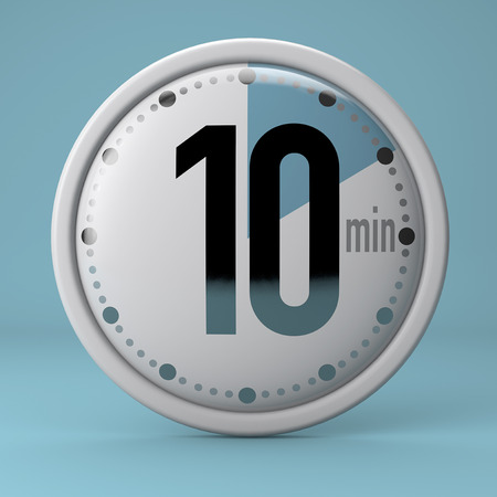 Time, clock, timer, stopwatch 10 minutes Banque d'images
