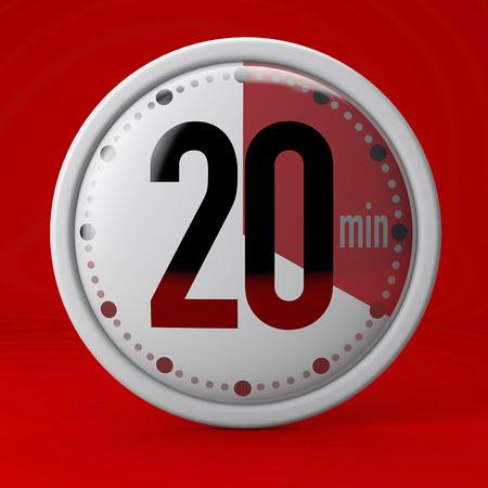 Zeit, Uhr, Timer, Stoppuhr 20 Minuten
