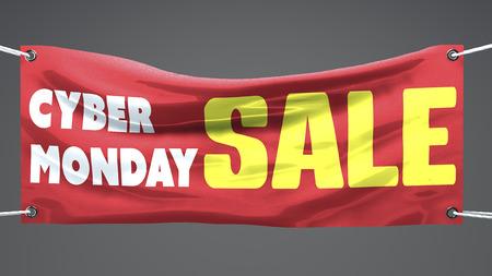Cyber poniedziałek, sprzedaż, transparent