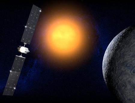 probe: Ceres, a dwarf planet, Dawn probe