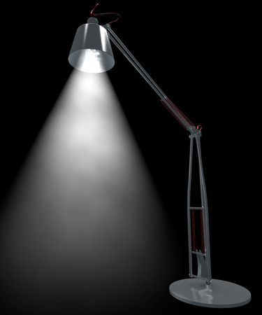 illuminate: Desk lamp, light, illuminate, bulb