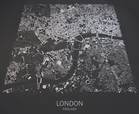 London satellite map view palaces and streets England