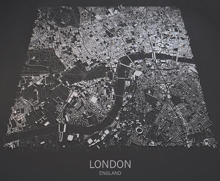London Satelliten Kartenansicht Paläste und Straßen England