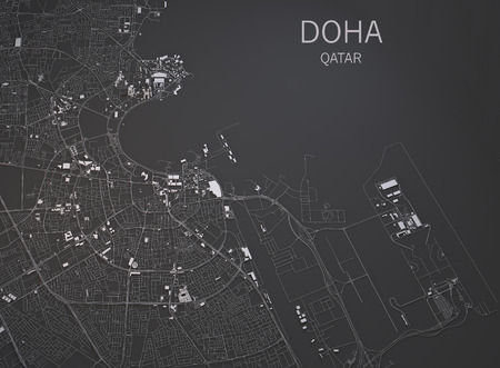 Doha Qatar 3d map satellite view