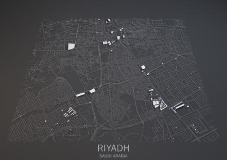 terrain: Riyadh Saudi Arabia 3d map satellite view