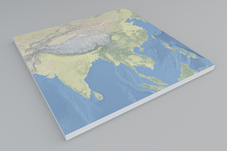 seaa: Asia map satellite view split 3d