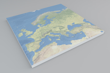 seaa: Europe split 3d satellite view