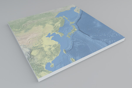 south east asia: South east Asia satellite view split 3d