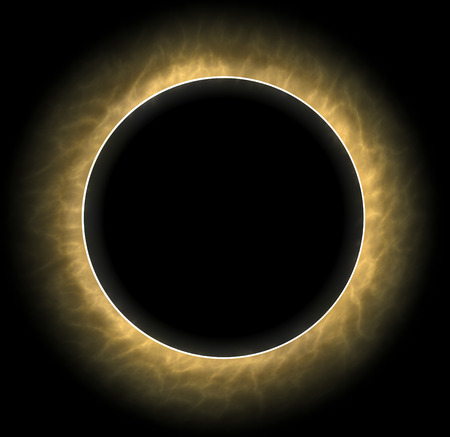 concealment: Total eclipse, the sun and moon